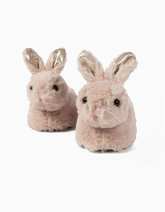 Pantufas para Menina 'Bunny', Castanho Claro