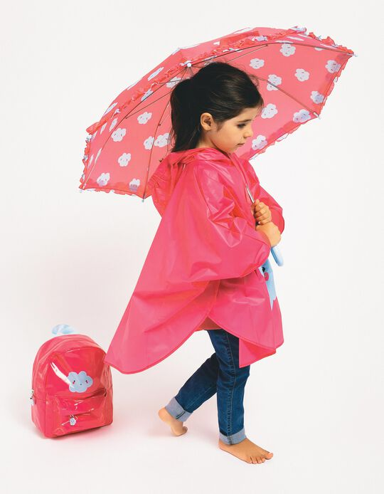 Rain Cover for Girls 'Cloud', Pink