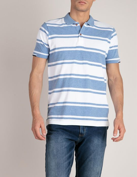 Piqué Polo Shirt, Striped