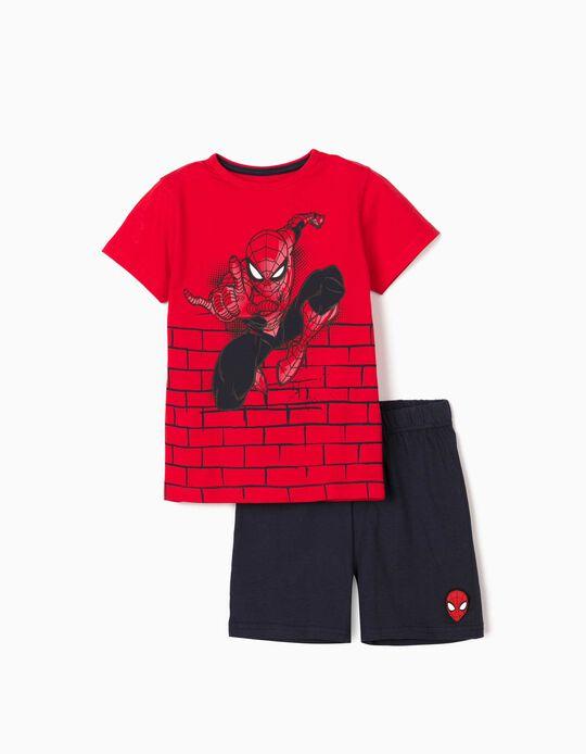 Pyjamas for Boys, 'Spider-Man', Red/Dark Blue