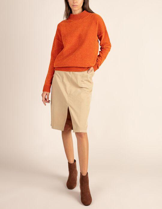 Chenille high neck jumper