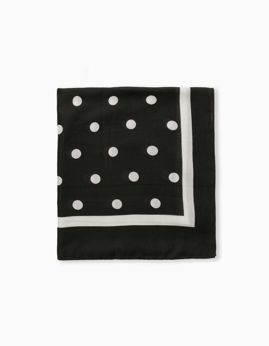 Dotted Scarf for Women, Black