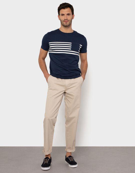 Slim Leg Trousers with Elasticated Waist