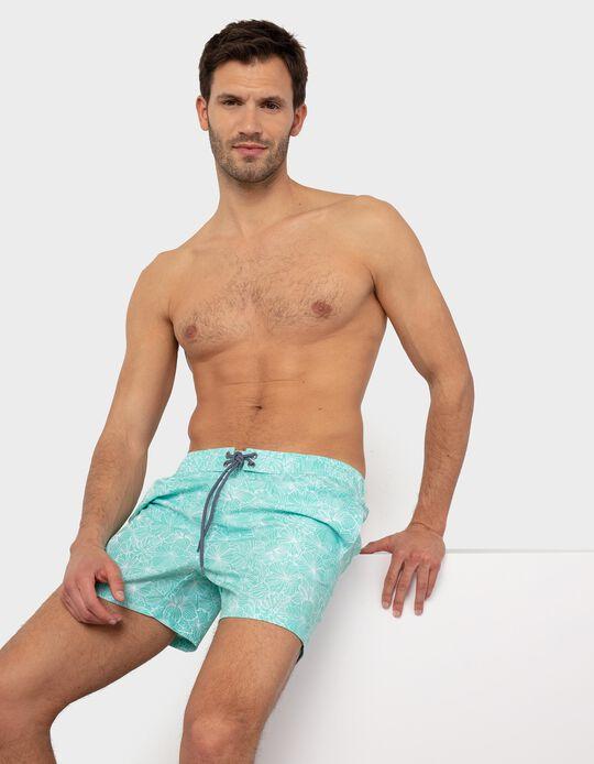 Swim Shorts, Floral Pattern, for Men