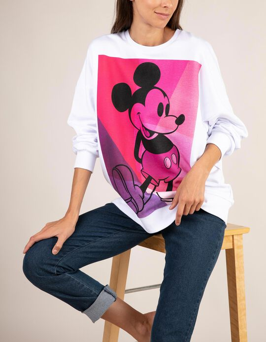 Long-sleeved top with Mickey Mouse print