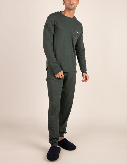 Conjunto de pijama com riscas
