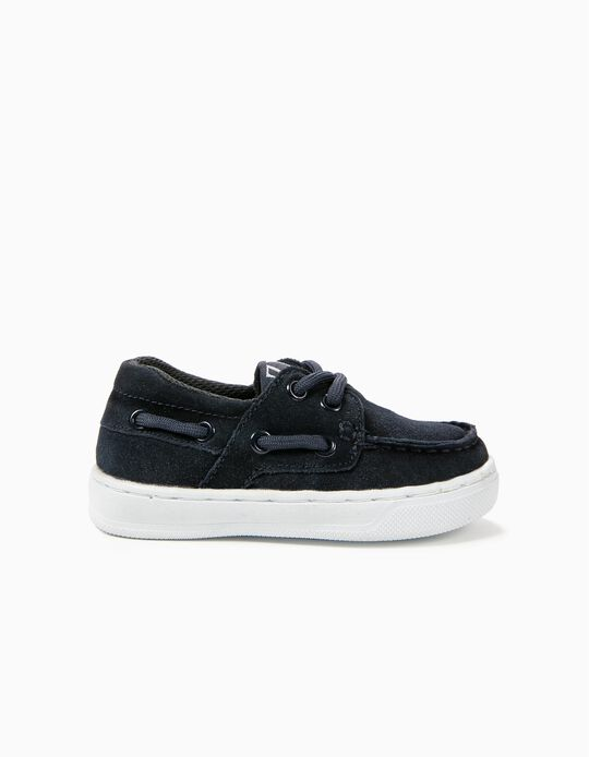 Suede Shoes for Baby Boys, Dark Blue