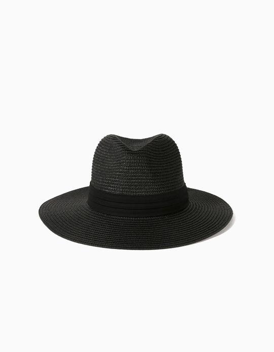 Chapéu de Palha com Tira, Mulher
