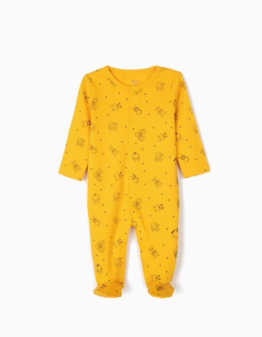 Babygrow para Recém-Nascido 'Robots', Amarelo