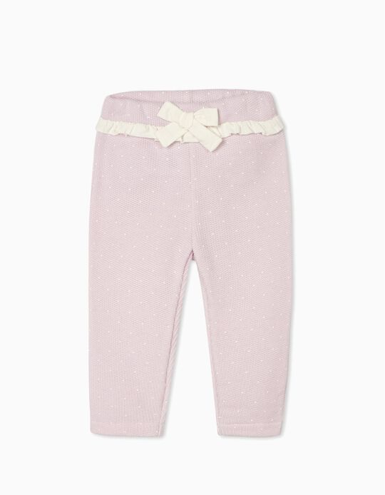 Knitted Trousers for Baby Girls, Purple