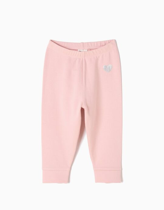 Pink Leggings with Heart