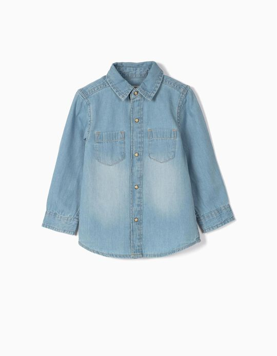 Denim Shirt for Baby Boys, Blue