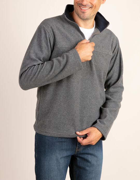 Plain polar fleece sweatshirt