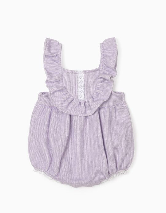 Jumpsuit for Newborn Baby Girls, Lilac
