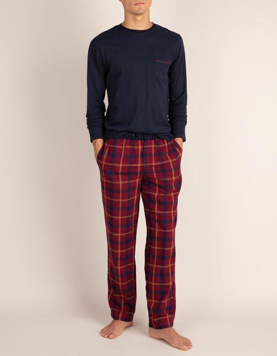 Calças de pijama em tartan