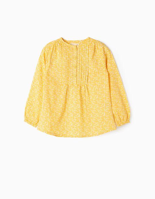 Blusa para Menina 'Flores', Amarelo