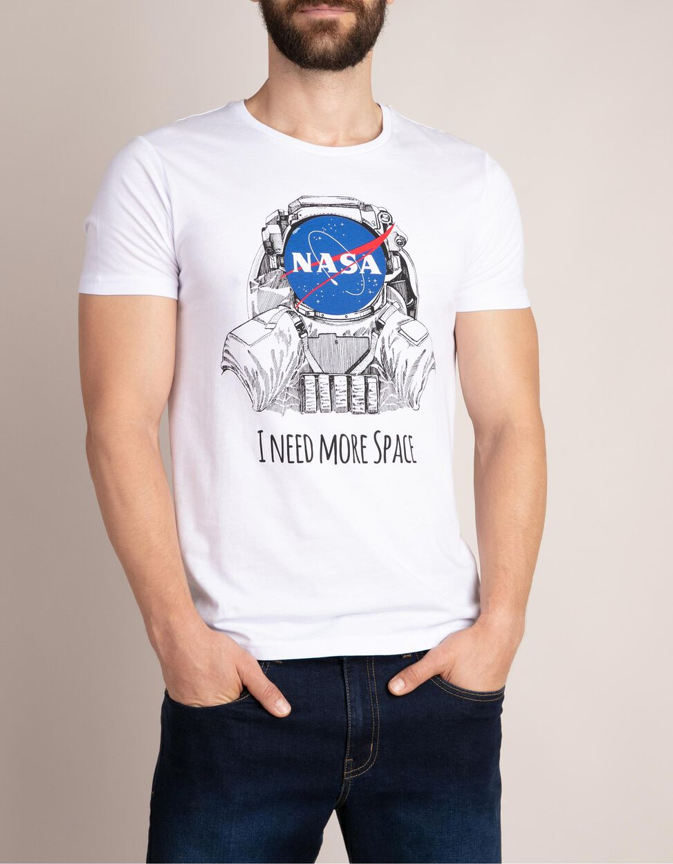 T-shirt lisa com estampado NASA
