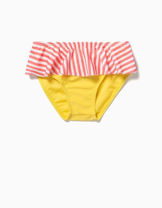 Cuecas de Banho Amarelo & Riscas