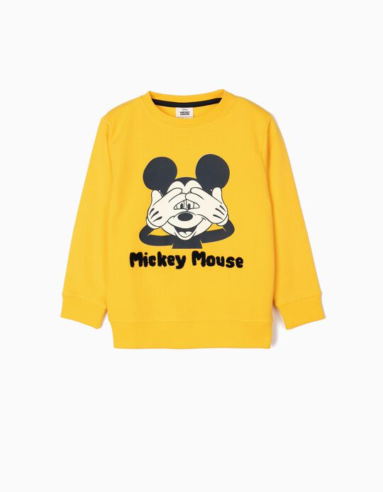 Sweatshirt for Boys 'Mickey Mouse', Yellow