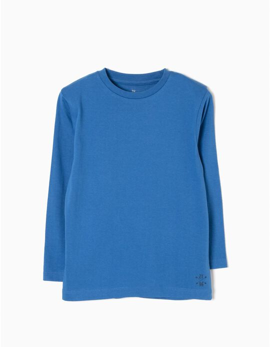 T-shirt Manga Comprida Azul