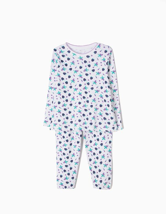 Pijama Manga Comprida e Calças Berries
