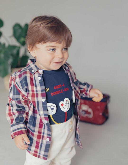 Long Sleeve T-Shirt for Baby Boys 'Farm Animals', Dark Blue