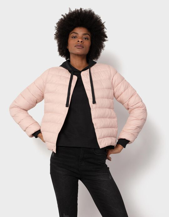 Padded Pink Jacket for Women