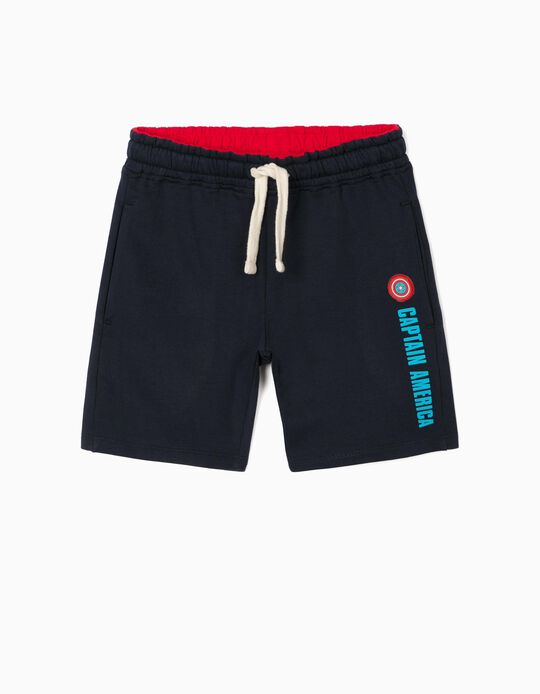 Shorts for Boys, 'Captain America', Dark Blue