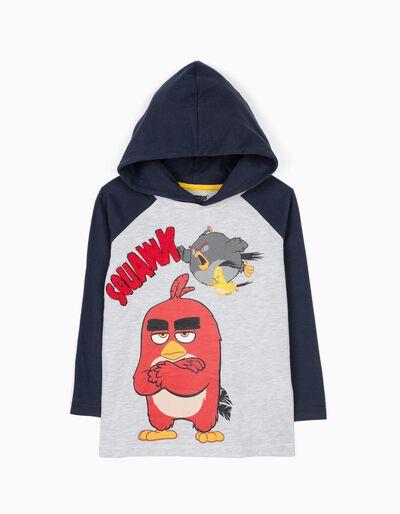 T-shirt Manga Comprida com Capuz Angry Birds