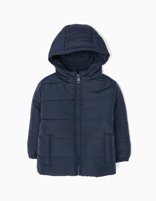 Dark Blue Padded Jacket