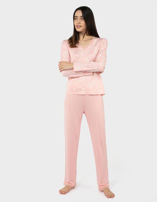 Pijama decote em bico