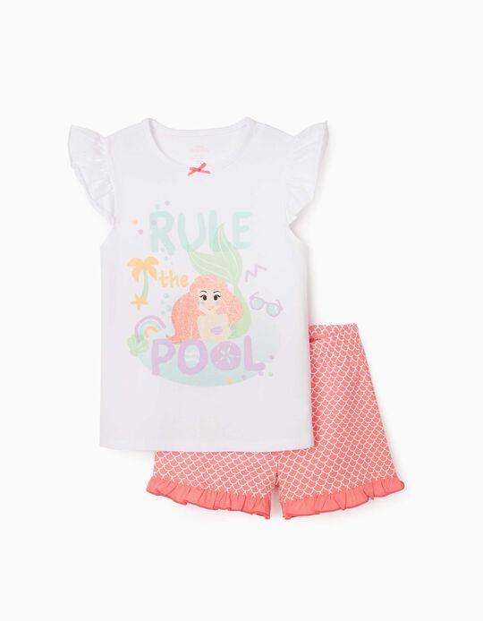 Pyjamas for Girls, 'Little Mermaid, White/Pink