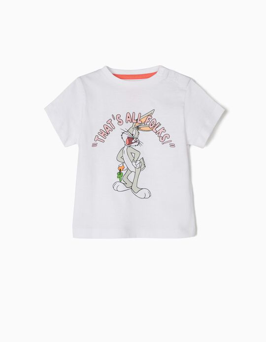 T-shirt para Bebé Menino 'Bugs Bunny', Branco