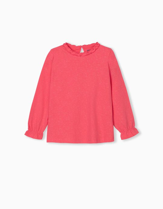 Blouse with Glitter for Girls, Pink
