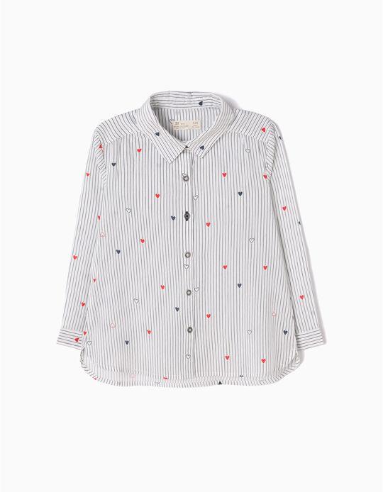 Camisa Riscas e Corações