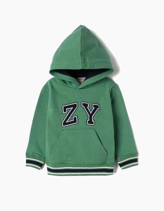 Sweatshirt para Bebé Menino 'ZY', Verde