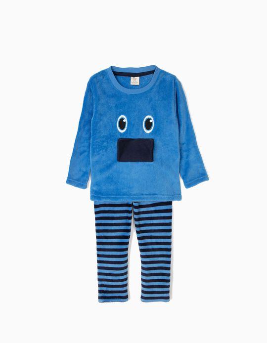 Pijama Camisola e Calças Little Monster Azul