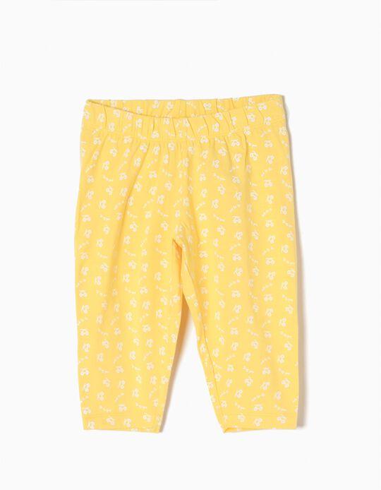 Leggings Curtas para Menina 'Ooh-la-la', Amarelo