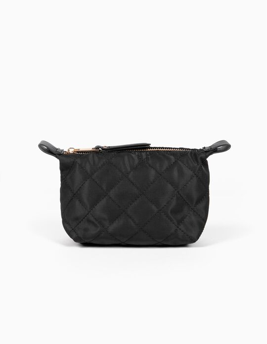 Padded nylon toiletry bag