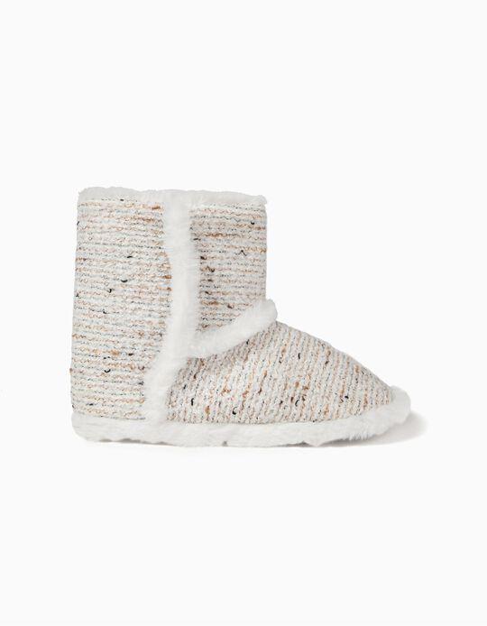 Pantufa estilo bota com lantejoulas