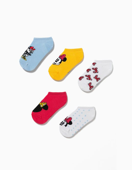 5 Pairs 'Disney' Trainer Socks for Girls