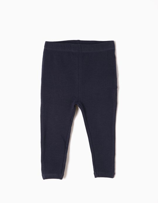 Leggings for Baby Girls, Dark Blue
