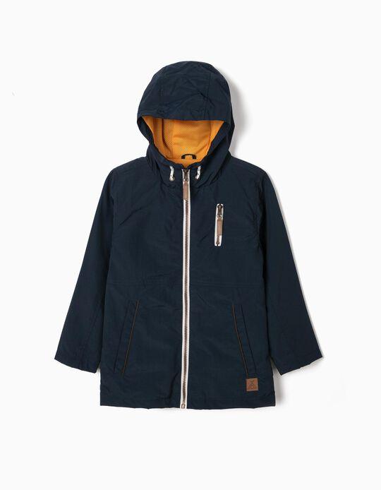 Dark Blue Water-Repellent Jacket