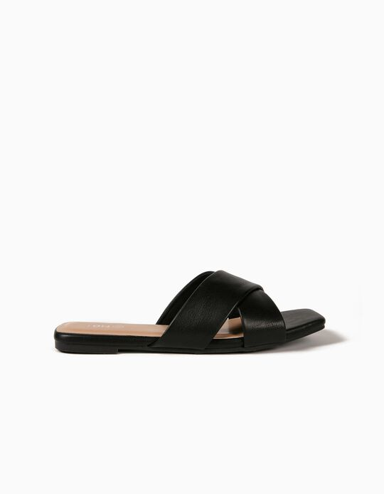 Flat, Crossover Sandals