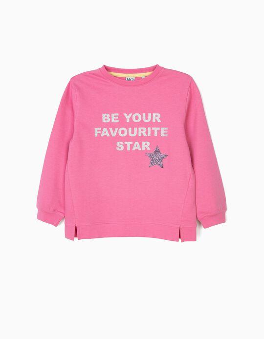 Sweatshirt estampado glitter