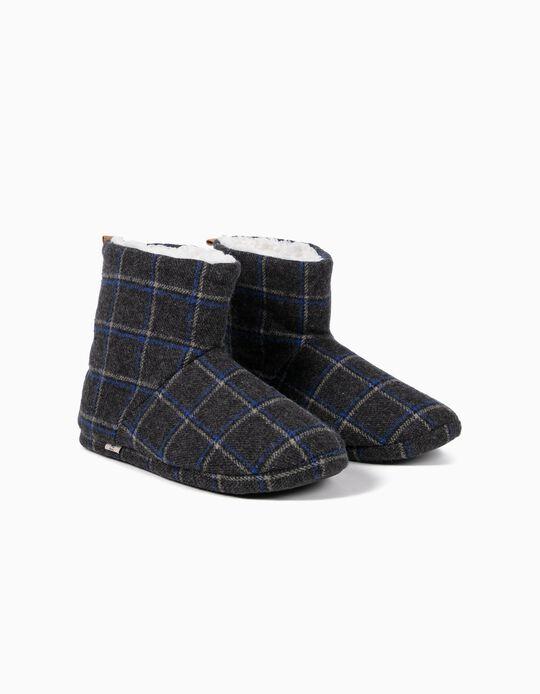 Plaid Slipper Boots