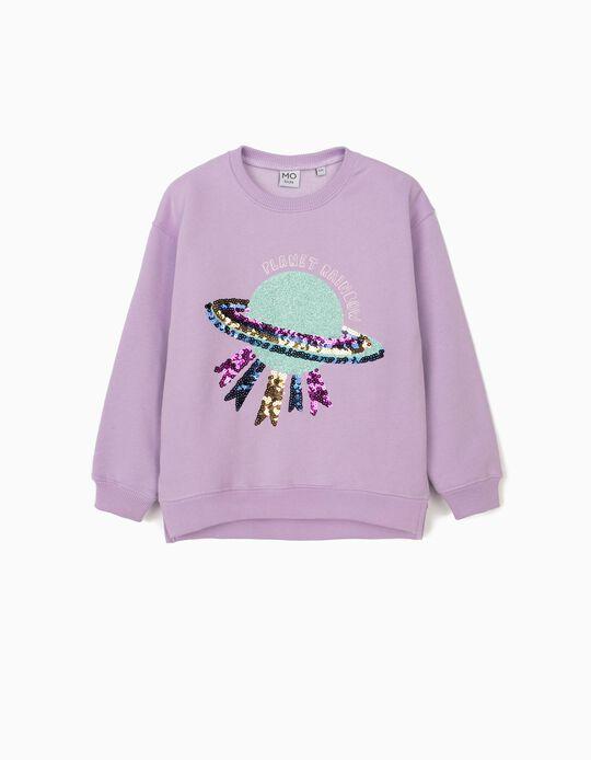 Sweatshirt Cardada com Lantejoulas