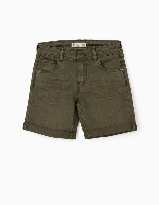 Twill Shorts for Boys, Green