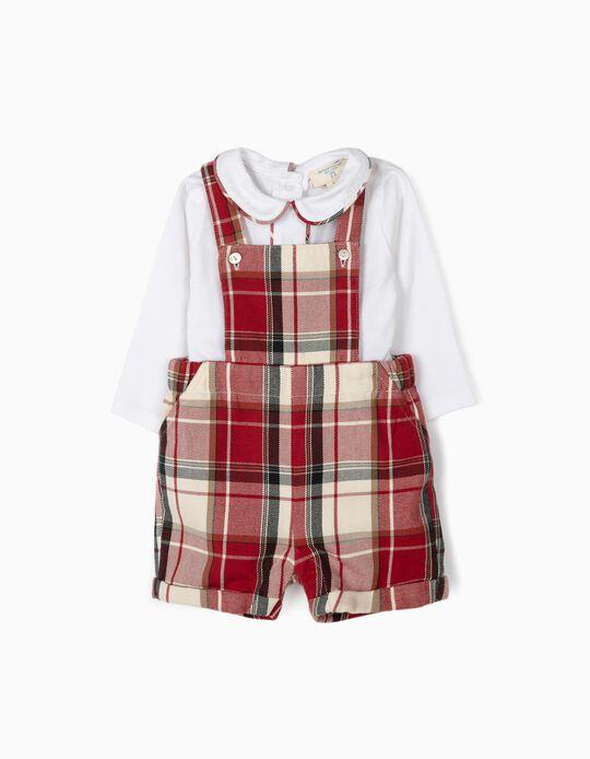 Romper and Bodysuit for Newborn Boys 'B&S', Red/White