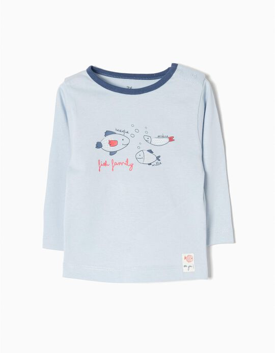 T-shirt Manga Comprida Fish